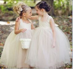 - Repinned by PrindlerProductions - White flower girl dresses. Ideal for any wedding