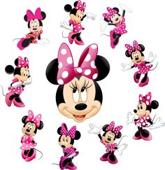 Minnie Mouse Stickers, Mickey E Minnie Mouse, Minnie Baby, Disney Mouse, Mickey Mouse Parties, Mickey Mouse Birthday, Disney Mickey, Disney Art, Pink Minnie