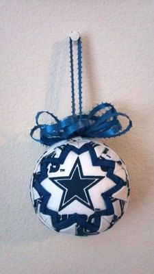 Cowboys Quilted Ornament....Want to make this for Packers Team!!