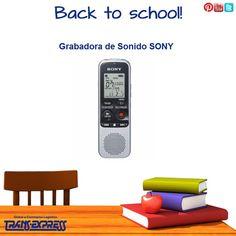 Para este inicio de clases, y para ti que eres universitario te sugerimos esta grandiosa grabadora de sonido SONY. TransExpress compras en internet en El Salvador. Costo aprox $64.27 http://amzn.com/B004SO876S