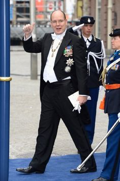 Prince Albert II of Monaco attends alone during the Inauguration of King Willem Alexander of the Netherlands on 30 April  2013