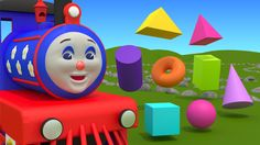 """Learn 3D shapes (geometric solids) with Choo-Choo Train - part 1"" is an educational cartoon for preschoolers and children grade 1. In this video Choo-Choo t..."