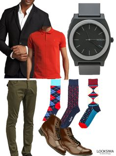 Playful Office look for men. #style