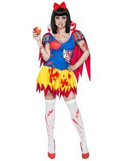 Zombie-Schneewittchen Halloween-Damenkostüm gelb-blau-rot. Aus der Kategorie Halloween Kostüme / Halloween Kostüme Damen. Keine Lust auf Standardkostüme an Halloween? Versuchen Sie es doch einmal mit einem horrormäßigen Märchenkostüm und begeben Sie sich in die Welt von Zombie-Schneewittchen und den sieben toten Zwergen!