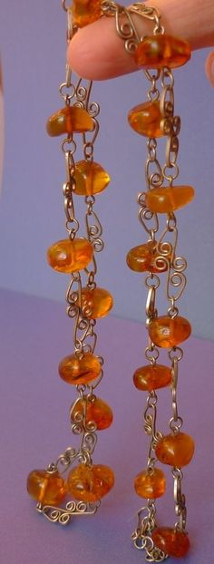 Vintage Retro USSR Latvian jewelry Necklace with Multi-Color Baltic Amber 30g