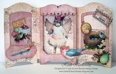 Crafty Secrets Sneak Peek and Reveal Day - Altered Fairies Creative Scraps - 3D Shadow Box Cards