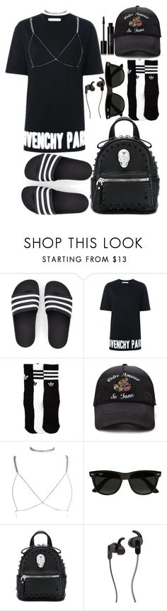 """""""back and forth - Jacob latimore"""" by annabidel ❤ liked on Polyvore featuring Givenchy, adidas, Forever 21, Luv Aj, Ray-Ban, Philipp Plein, JBL and Edward Bess"""
