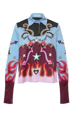 Shane Graphic Cowboy Shirt by MARY KATRANTZOU for Preorder on Moda Operandi