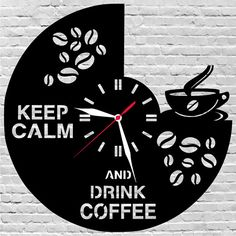 29$ wooden wall clock #Coffee, #Kitchendecor, #Kitchenwallart, #Kitchen  by lovelygift4you