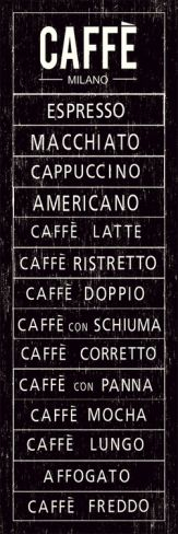 Caffe Print for the kitchen above the cafe bar.
