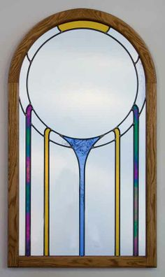 Warren Slocum - stained glass mirrors and peace symbols