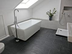 Fliesen Schwarzer Schiefer Badezimmer