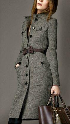 Cashmere Woolen Burberry Coat