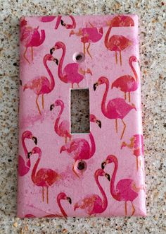 Pink Flamingo Light Switch Cover By Tinasthriftytreasure On Etsy Party Decor