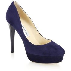 Jimmy Choo Alex Suede Platform Pumps ($840) ❤ liked on Polyvore featuring shoes, pumps, heels, lullabies, sapatos, apparel & accessories, navy, jimmy choo pumps, high heel pumps and suede pumps