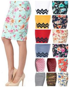 printed a line knee length pencil skirt.  Modest fashion ideas. Modest skirts I love!