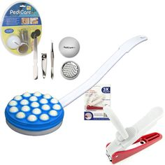 82-025525 Foot File System, Lighted Nail Clipper & Lotion Applicator