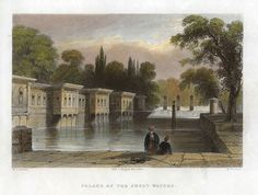 Turkey, Istanbul, Palace of the Sweet Waters, 1838