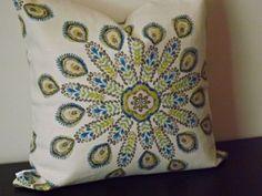 Decorative Throw Pillow, Blue and Cream Pillow 20 x Throw Pillow,Toss Pillow, Accen Cream Pillow Covers, Cream Pillows, Blue Throw Pillows, Toss Pillows, Throw Pillow Covers, Accent Pillows, Decorative Throw Pillows, Pillow Cases, Green Colors