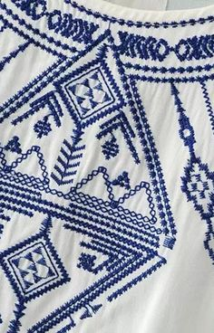 Blue Embroidery Tank Top – Trendy Road