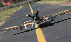 BananaHobby - 6 CH BlitzRCWorks 2.4GHz Oversize Camo A1 Skyraider Radio Remote Control Electric RC Warbird Airplane ( ARF )