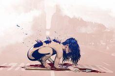 зомби девушка арт - Поиск в Google