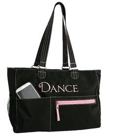 Classic Black Dance Tote Bag FREE por ThreeLittleChickadee en Etsy