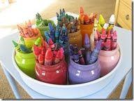 Color coded crayon organization