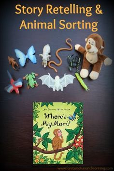 Julia Donaldson's Where's My Mom? Book Activity Practice sorting animals and story retelling with Julia Donaldson's Where's My Mom Language Activities, Reading Activities, Literacy Activities, Activities For Kids, Julia Donaldson Books, Story Sack, Story Retell, Books For Moms, Puzzle Books