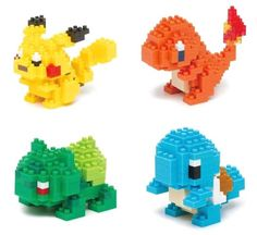 Nanoblock Pokemon - Tiny Blocks Please - Lego Pokemon, Lego Design, Lego Technic, Lego Creator House, Lego Toys, Lego Lego, Lego Batman, Lego Avengers, Cool Ideas