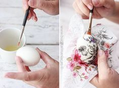 Diy And Crafts, Arts And Crafts, Easter Crafts, Icing, Decoupage, Projects To Try, Eggs, Homemade, Creative