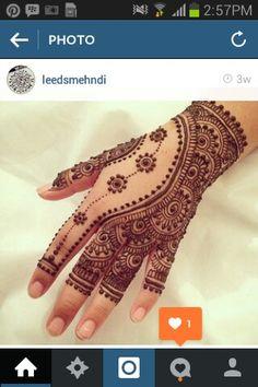 glove floral henna pattern mehendi hand / сложный цветочный мехенди на руке перчатка
