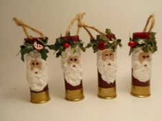 Shotgun Shell Ornament Santa by brightideasbylorrie on Etsy, $4.00 #Christmas #thanksgiving #Holiday #quote