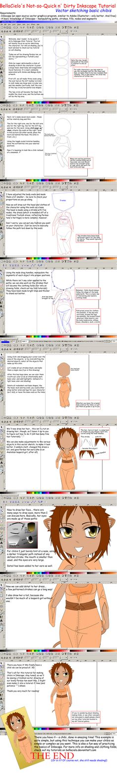 Inkscape Chibi Tutorial by BellaCielo