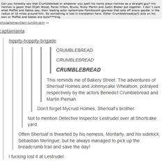 The story of Sherloaf Holmes.... the comments completely make up for the remark above