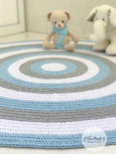 Crochet Mat, Crochet Carpet, Crochet Teddy, Ohio State Colors, Animal Rug, Knitting Designs, Baby Boy Shower, Rugs On Carpet, Baby Room