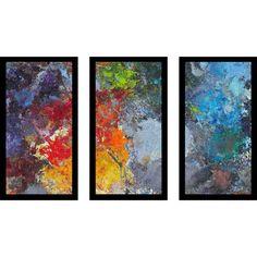 FramedCanvasArt Fire Ice Framed Plexiglass Wall Art