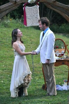 Carrie-Welles and Mark included a Hand-fasting.  We were able to present this ancient ritual of Betrothal in a way that was beautiful and accessible to their guests.