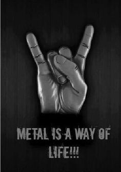 Metal is a way of life! Heavy Metal Bands, Heavy Metal Rock, Heavy Metal Music, Rock And Roll, Pop Rock, Death Metal, Music Love, Good Music, Metallica