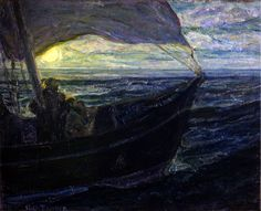 Henry Ossawa Tanner (American, 1859–1937), The Disciples on the Sea, oil on canvas, about 1910. Gallery 30B