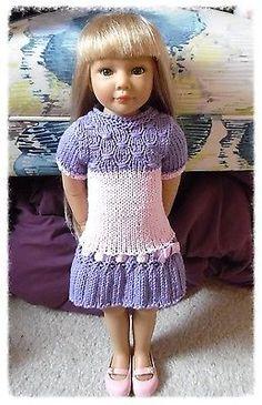 Organic-Knit-Doll-Clothes-Sweater-Dress-Gotz-18-inch-Girl-Kidz-n-Cats-American