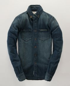 Standard Blue Jean Shirt by Superdry.
