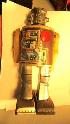 Vintage Toy Robot with batteries Durham Industries Inc. Antique Toy Robot 2500