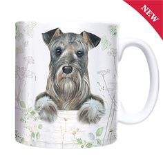 Gifts for Him | Gifts for Her | Animal Lovers Gifts | Chunky Mug - Schnauzer