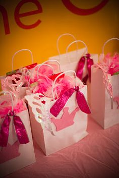 Princess theme, have blue bags for all of the little princes at the party