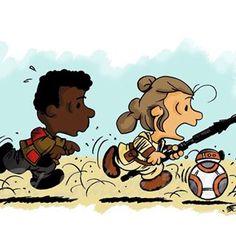 Peanuts Gang as Star Wars
