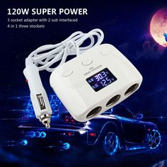 best price 3 way 120w auto car cigarette lighter socket splitter 2 dual usb power converter car charger #lighter #cases