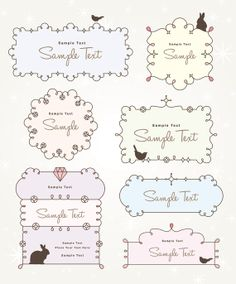 Cute Cartoon Lace Vector - INSTANT DOWNLOAD