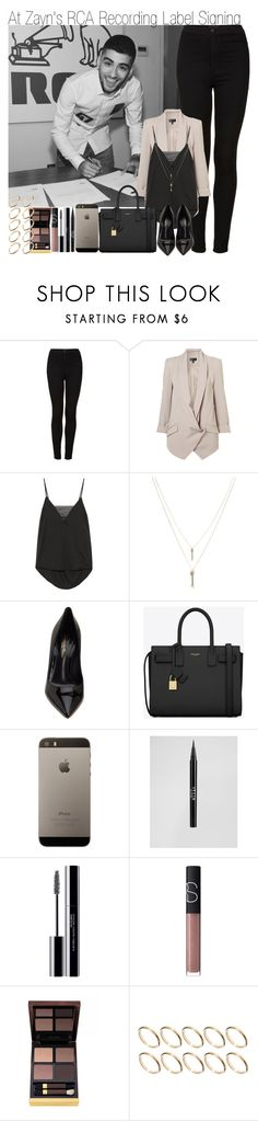 """""""At Zayn's RCA Record Label Signing"""" by elise-22 ❤ liked on Polyvore featuring Topshop, By Malene Birger, Monki, Gianvito Rossi, Yves Saint Laurent, Stila, shu uemura, NARS Cosmetics, Tom Ford and ASOS"""