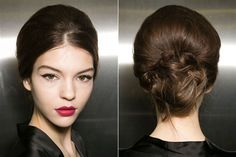 Fall Hair Trends to Try: Deconstructed bun at Dolce & Gabbana